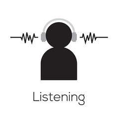 Listening Icon vector image