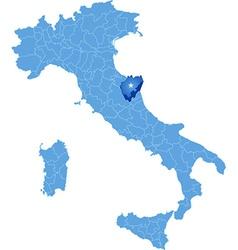 Map of Italy Macerata vector