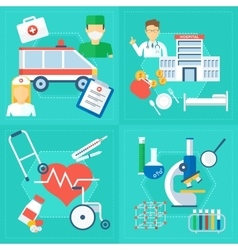 medical concept set of image vector image vector image