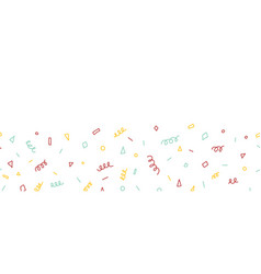 party doodles seamless border abstract vector image