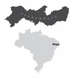 pernambuco state brazil vector image