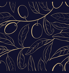 seamless olive background vector image