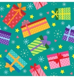 Seamless present pattern vector