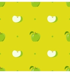 Seamless texture with a pattern of green apples vector image