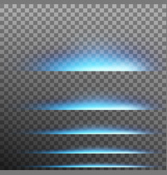set abstract blue glare effect lights eps 10 vector image