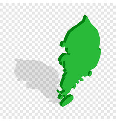 south korea map isometric icon vector image