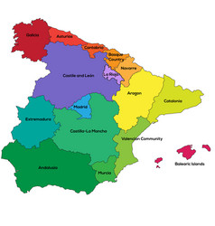 spain regions vector image