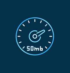 speed test internet concept colored vector image