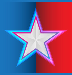 star on blue red background for flight vector image