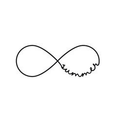 Summer - infinity symbol repetition and unlimited vector