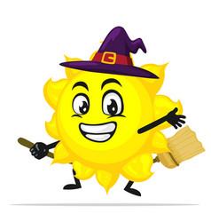 Sun mascot or character vector