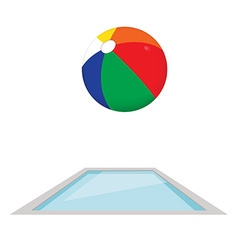 Swimming pool and ball vector image