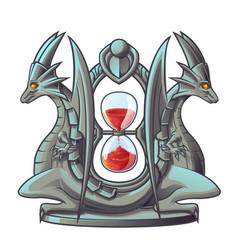 the dragon sand timer vector image