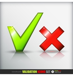 Validation icons set vector