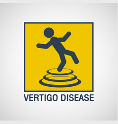 vertigo disease logo icon design vector image