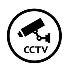 video surveillance symbol vector image