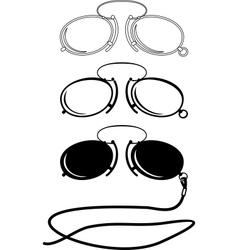 vintage glasses vector image vector image