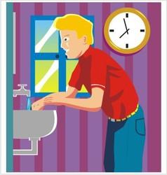 Wash hand vector