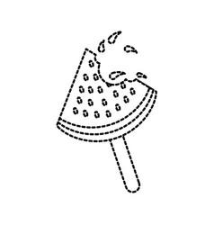 watermelon ice cream pop on wooden stick vector image