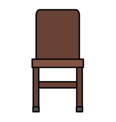 wooden chair element isolated icon vector image