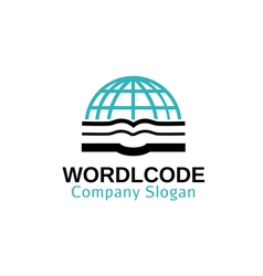 World Code Design vector image