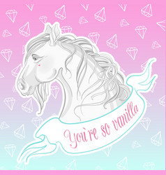 you are so vanilla realistic vector image