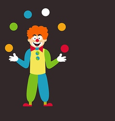 Clown Juggling Balls vector image vector image