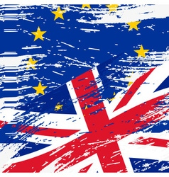 color european union and united kingdom flags vector image vector image