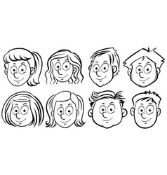 different faces of people vector image vector image