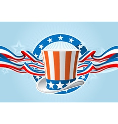 fourth of july emblem vector image vector image