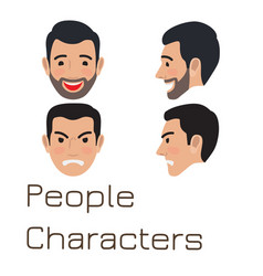 people characters sad and happy man avatar vector image