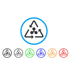 ripple recycling rounded icon vector image vector image