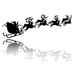 Santa Claus drives in a sleigh vector image vector image