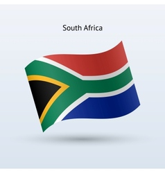 South Africa flag waving form vector image