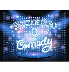 stand up comedy light wall vector image vector image