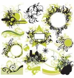 urban graphic elements pack vector image