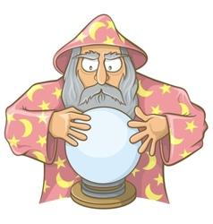 wizard ball pink vector image vector image