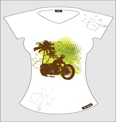abstract T-shirt vector image