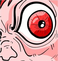 greed eye vector image vector image