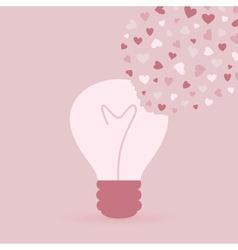 Love bulb vector image