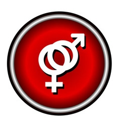 outlines icons of gender male and female symbols vector image