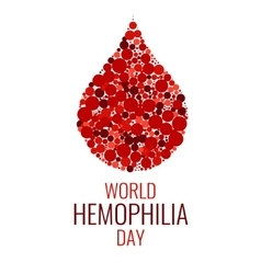 World Hemophilia Day design template vector image vector image