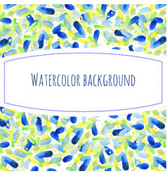 abstract hand paint watercolor background stain vector image vector image
