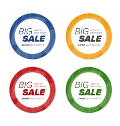 Big sale circle stickers vector image vector image