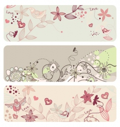 cute floral banners vector image