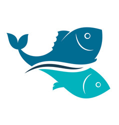 Fish design abstract vector