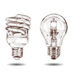 hand made lamp Graphic sketch vector image