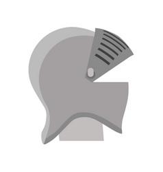 helmet knight armor medieval isolated shield vector image
