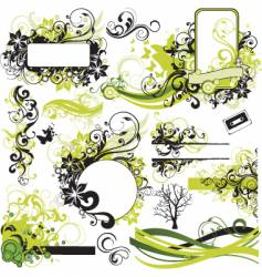 urban graphic elements pack vector image vector image