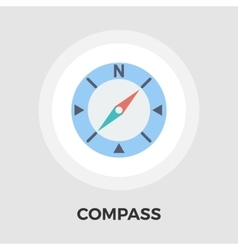 Compass Flat Icon vector image vector image